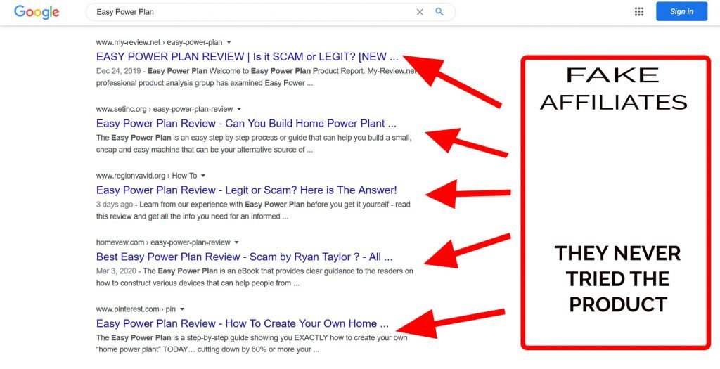 Easy Power Plan scams